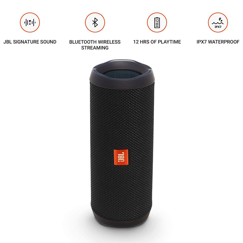 JBL FLIP 4 Black Open Box Portable Bluetooth Speaker