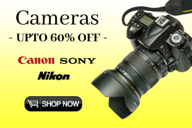 Buy Digital Cameras at the best price online only at Digital Arcade - Upto 60% Off - 100% Original